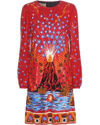 Valentino - Volcano and Enchanted Woodland Sequinned Mini Dress - Lyst