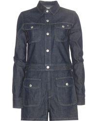 AG Jeans Loretta Denim Playsuit - Blue