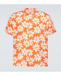 ERL Bedrucktes Kurzarmhemd - Orange