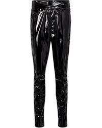 RTA Kyle High-rise Skinny Latex Trousers - Black