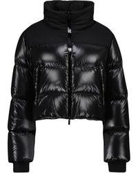 Moncler Jasione Cropped Down Jacket - Black