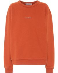 Acne Studios Logo Cotton-jersey Sweatshirt - Orange