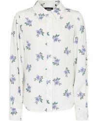 Isabel Marant Chemise Bedrissa à fleurs - Blanc
