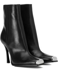 CALVIN KLEIN 205W39NYC Wilamiona Leather Ankle Boots - Black