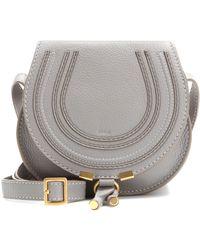 Chloé Marcie Mini Leather Shoulder Bag - Grey