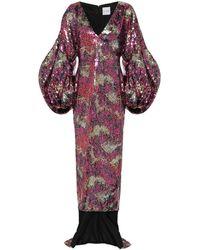 Halpern Robe mit Pailletten - Pink