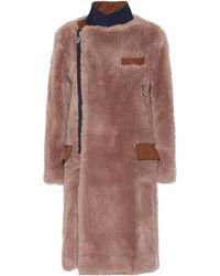 Sacai Cappotto in lana - Marrone