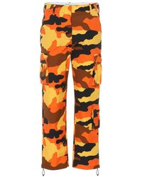 Off-White c/o Virgil Abloh Pantaloni cargo con stampa camouflage - Arancione