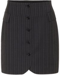 Acne Studios Striped High-rise Wool Skirt - Blue