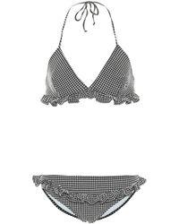 Miu Miu - Gingham Check Bikini - Lyst