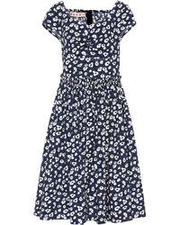 Marni Bedrucktes Kleid aus Baumwolle - Blau
