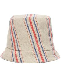 Rejina Pyo Connor Striped Linen Fedora - Natural