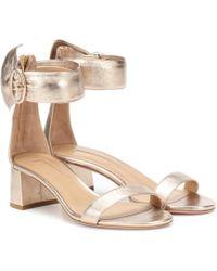 Aquazzura - Palace 50 Leather Sandals - Lyst
