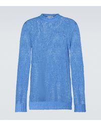 Jil Sander Jersey de punto de lino - Azul