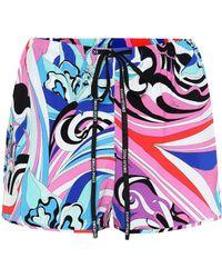 fd5d0b095486 Emilio Pucci Printed Stretch Twill Shorts in Pink - Lyst