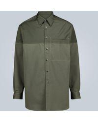 Valentino Camisa de manga larga con pespuntes - Verde