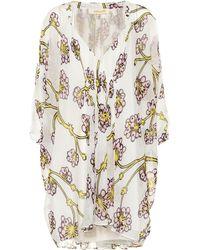 Diane von Furstenberg - Printed Silk Minidress - Lyst