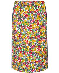 Marni Floral Crêpe Midi Skirt - White