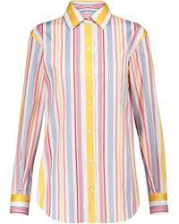 Loro Piana Andre Striped Cotton Poplin Shirt - Multicolour