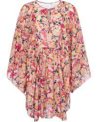 Stella McCartney Bedruckter Kaftan aus Baumwolle - Pink