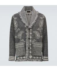 Alanui Las Cuevas Wool And Alpaca Cardigan - Grey