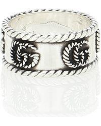Gucci GG Marmont Detail Ring Ring - Metallic