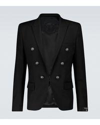 Balmain Blazer de lana de seis botones - Negro