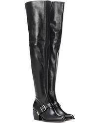 Chloé Overknee-Stiefel Rylee aus Leder - Schwarz