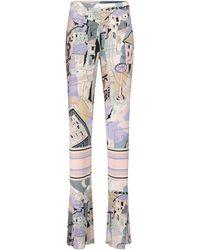 Emilio Pucci Bedruckte Hose aus Jersey - Mehrfarbig