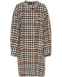 Isabel Marant Zaban Tweed Coat - Brown