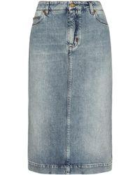 Tom Ford Denim Midi Skirt - Blue