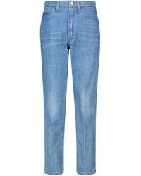 FRAME - Jeans rectos Le Italien de tiro alto - Lyst