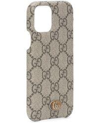 Gucci Custodia per iPhone 11 Pro Ophidia - Marrone