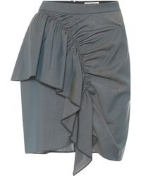 Étoile Isabel Marant Minifalda Nely en mezcla de algodón - Gris