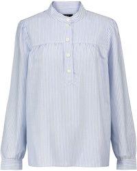 A.P.C. Blusa de algodón a rayas - Azul