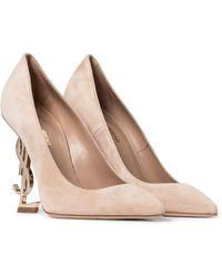 Saint Laurent Opyum 110 Suede Court Shoes - Multicolour