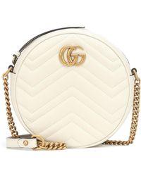 Gucci - Mini sac à épaule rond GG Marmont - Lyst