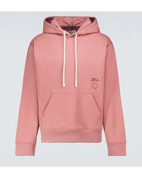 OAMC Hoodie Nightshade aus Baumwolle - Pink