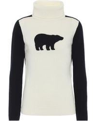 Perfect Moment Intarsia Merino Wool Sweater - White