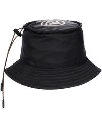 Fendi Chapeau bob réversible à logo FF - Marron