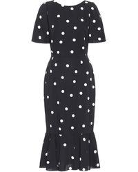 Dolce & Gabbana Gepunktetes Kleid - Schwarz