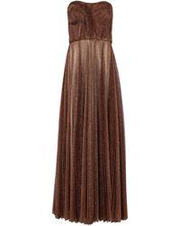 Dolce & Gabbana Vestido de fiesta de tul lamé - Marrón