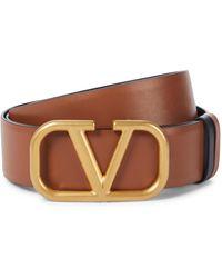 Valentino Garavani Gürtel VLOGO aus Leder - Braun