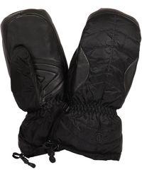 Bogner Selia Leather-trimmed Ski Mittens - Black