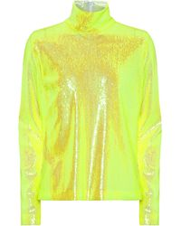 MM6 by Maison Martin Margiela Sequined L/s Top - Yellow