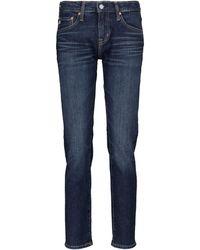 AG Jeans Ex-boyfriend Mid-rise Straight Jeans - Blue