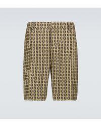 Fendi Interlace Ff Bermuda Shorts - Multicolor