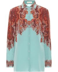 Etro Printed Silk Shirt - Multicolor