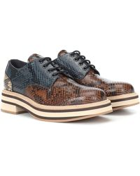 Dries Van Noten Printed Leather Derby Shoes - Multicolor