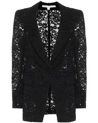 Veronica Beard Blazer Long and Lean in pizzo - Nero